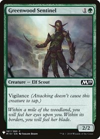 Greenwood Sentinel, Magic: The Gathering, Mystery Booster Cards