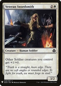 Veteran Swordsmith, Magic: The Gathering, Mystery Booster Cards