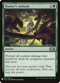 Hunter's Ambush, Magic: The Gathering, Mystery Booster Cards