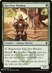 Kin-Tree Warden, Magic: The Gathering, Mystery Booster Cards