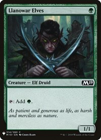 Llanowar Elves, Magic: The Gathering, Mystery Booster Cards