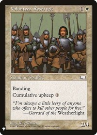 Volunteer Reserves, Magic: The Gathering, Mystery Booster Cards