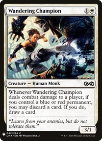 Wandering Champion, Magic: The Gathering, Mystery Booster Cards