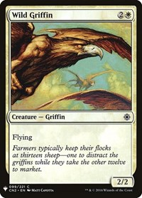 Wild Griffin, Magic: The Gathering, Mystery Booster Cards