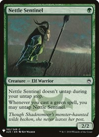 Nettle Sentinel, Magic: The Gathering, Mystery Booster Cards