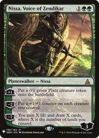 Nissa, Voice of Zendikar, Magic: The Gathering, Mystery Booster Cards
