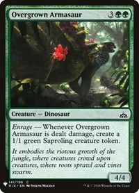 Overgrown Armasaur, Magic: The Gathering, Mystery Booster Cards
