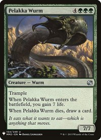 Pelakka Wurm, Magic: The Gathering, Mystery Booster Cards
