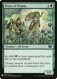 Priest of Titania, Magic: The Gathering, Mystery Booster Cards