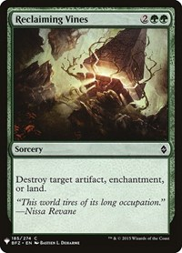 Reclaiming Vines, Magic, Mystery Booster Cards