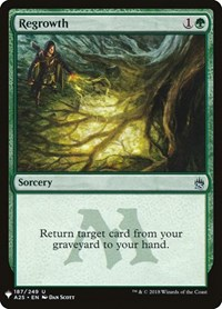 Regrowth, Magic: The Gathering, Mystery Booster Cards