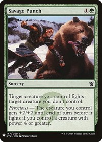 Savage Punch, Magic: The Gathering, Mystery Booster Cards