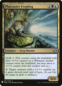 Plaxcaster Frogling, Magic: The Gathering, Mystery Booster Cards