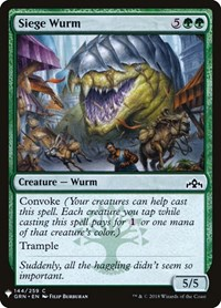 Siege Wurm, Magic, Mystery Booster Cards