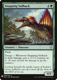 Snapping Sailback, Magic: The Gathering, Mystery Booster Cards