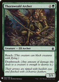 Thornweald Archer, Magic: The Gathering, Mystery Booster Cards