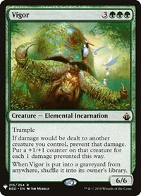 Vigor, Magic: The Gathering, Mystery Booster Cards
