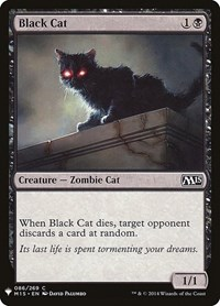 Black Cat, Magic: The Gathering, Mystery Booster Cards