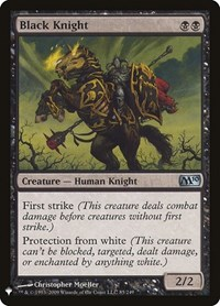 Black Knight, Magic, Mystery Booster Cards