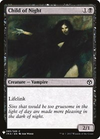 Child of Night, Magic, Mystery Booster Cards