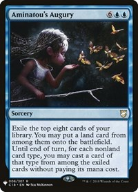 Aminatou's Augury, Magic: The Gathering, Mystery Booster Cards