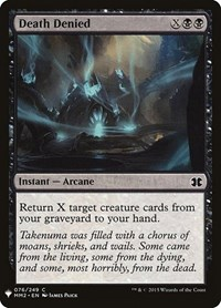Death Denied, Magic: The Gathering, Mystery Booster Cards