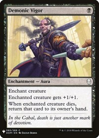 Demonic Vigor, Magic: The Gathering, Mystery Booster Cards