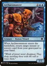 Archaeomancer, Magic: The Gathering, Mystery Booster Cards
