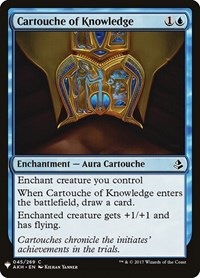 Cartouche of Knowledge, Magic, Mystery Booster Cards