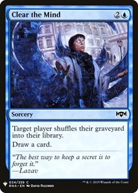 Clear the Mind, Magic: The Gathering, Mystery Booster Cards