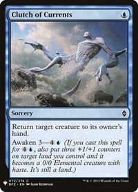 Clutch of Currents, Magic: The Gathering, Mystery Booster Cards