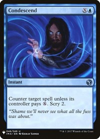 Condescend, Magic: The Gathering, Mystery Booster Cards
