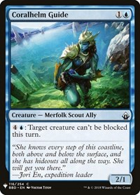 Coralhelm Guide, Magic: The Gathering, Mystery Booster Cards