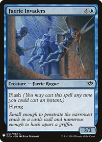 Faerie Invaders, Magic: The Gathering, Mystery Booster Cards
