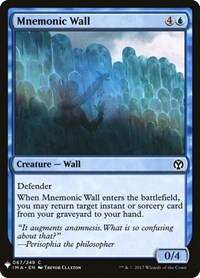 Mnemonic Wall, Magic: The Gathering, Mystery Booster Cards