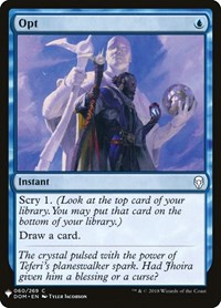 Opt, Magic, Mystery Booster Cards