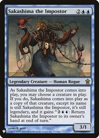 Sakashima the Impostor, Magic: The Gathering, Mystery Booster Cards