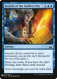 Secrets of the Golden City, Magic: The Gathering, Mystery Booster Cards