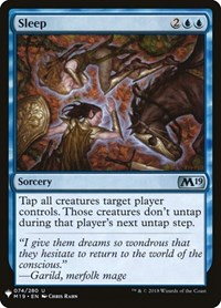 Sleep, Magic: The Gathering, Mystery Booster Cards