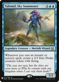 Talrand, Sky Summoner, Magic: The Gathering, Mystery Booster Cards