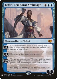 Teferi, Temporal Archmage, Magic: The Gathering, Mystery Booster Cards