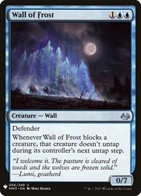 Wall of Frost, Magic, Mystery Booster Cards