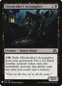 Ghoulcaller's Accomplice, Magic, Mystery Booster Cards
