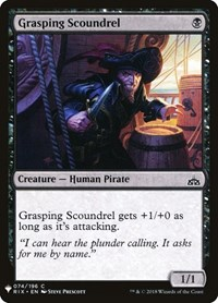 Grasping Scoundrel, Magic: The Gathering, Mystery Booster Cards