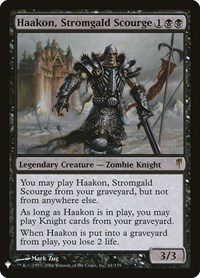 Haakon, Stromgald Scourge, Magic: The Gathering, Mystery Booster Cards