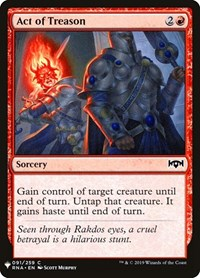 Act of Treason, Magic: The Gathering, Mystery Booster Cards