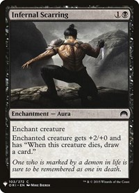 Infernal Scarring, Magic: The Gathering, Mystery Booster Cards