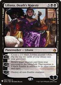 Liliana, Death's Majesty, Magic: The Gathering, Mystery Booster Cards