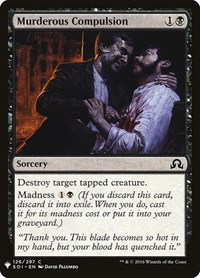 Murderous Compulsion, Magic: The Gathering, Mystery Booster Cards