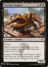 Noxious Dragon, Magic, Mystery Booster Cards